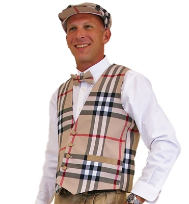 Men's Plaid Golf Vest