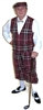 Outrageous Knicker Outfit Maroon Plaid by Kings Cross