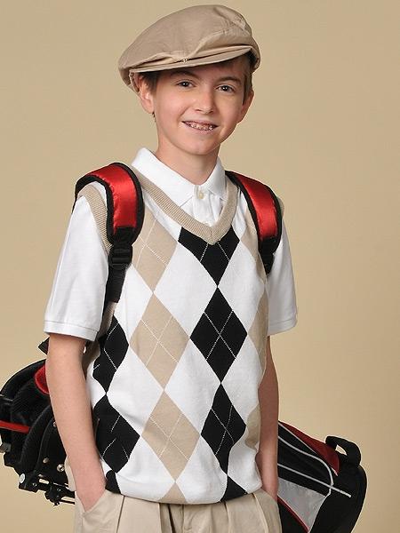 Children's Argyle Golf Sweater Vests