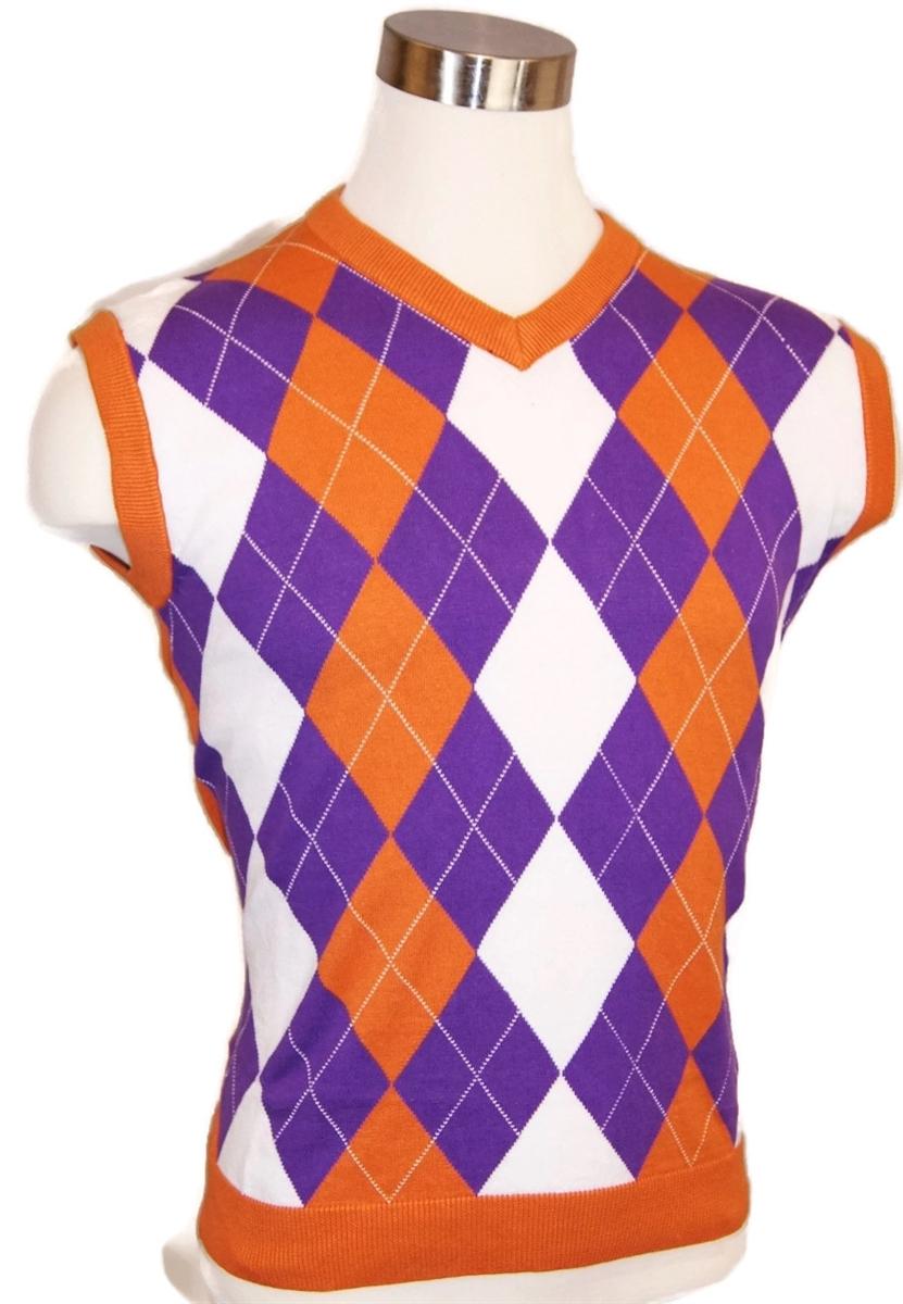 7e2b44441b1 Men's Argyle Golf Sweater Vests