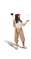 Ladies Khaki Golf Knickers Outfit