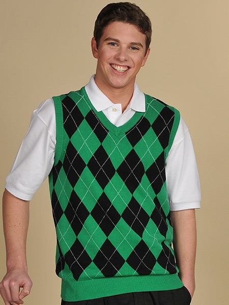 Men's Argyle Golf Sweater Vests