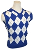 Cobalt Blue Argyle Sweater Vest