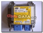 Hyundai 95910-2B470 Delphi/Bosch SA3109100/0 285 010 116 airbag module reset and repair by Crash Data