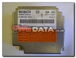 Mercedes 0 285 001 812 Bosch airbag module reset and repair by Crash Data