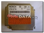 Mercedes 0 285 001 881 Bosch airbag module reset and repair by Crash Data
