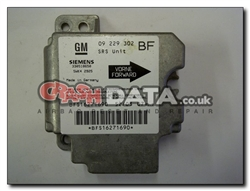 Vauxhall Astra 09 229 302 BF SRS Unit Reset and Repair 5WK4 2925