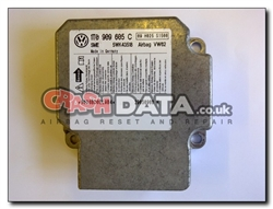 VW Touran 1T0 909 605 C Airbag Control Module Reset and Repair 5WK43158