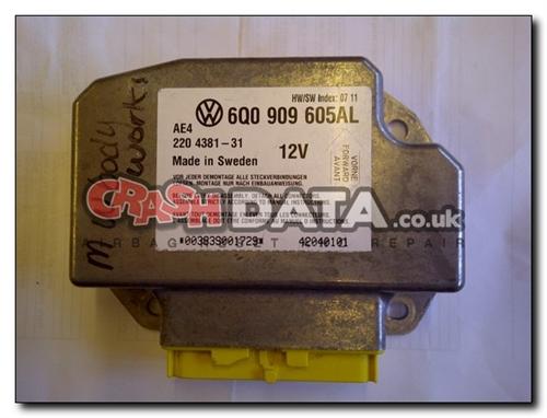 6Q0 909 605AL VW BEETLE Airbag Control Module Repair and Reset