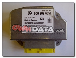 VW Beetle 6Q0 909 605E Airbag Module Repair and Reset