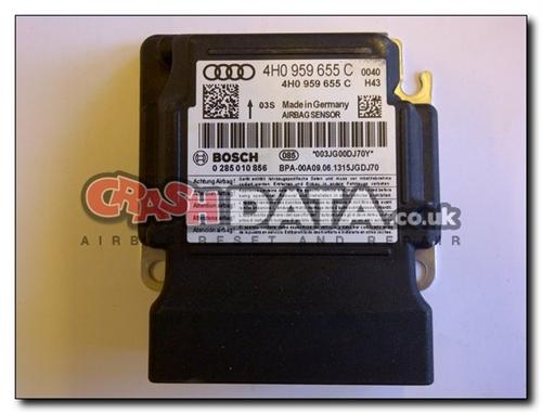 4H0 959 655 C AUDI A4 A6 Airbag Control Module Reset and Repair 0 285 010  856