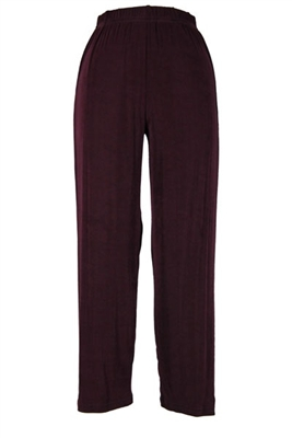 Ankle length capri pant - brown -  acetate/spandex