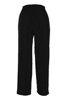 Ankle length capri pant - black -  acetate/spandex