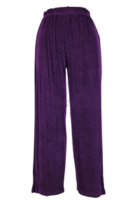 Ankle length capri pant - purple -  acetate/spandex