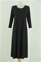 Long sleeve long dress - black