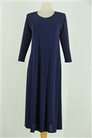 Long sleeve long dress - navy