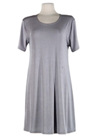 Short sleeve short dress - grey - polyester/spandex
