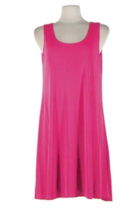 Short tank dress - fuschia - polyester/spandex