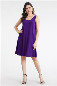 Short tank dress - purple - polyester/spandex
