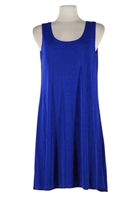 Short tank dress - royal blue - polyester/spandex