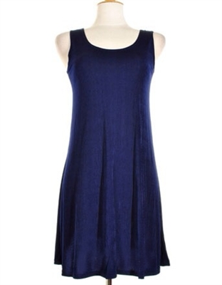 Short tank dress - navy -  polyester/spandex