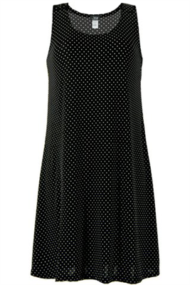 Short tank dress - black/white polka dots 2 - poly/spandex