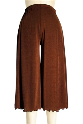 Gaucho Pant - brown - polyester/spandex