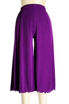 Gaucho Pant - purple - polyester/spandex