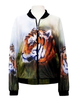 Bomber Jacket - tiger print