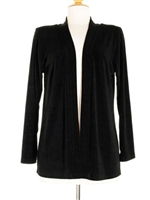 Long sleeve  jacket - black - acetate/spandex