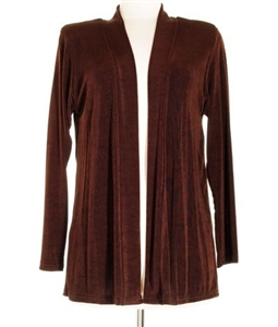 Long sleeve jacket - brown - acetate/spandex