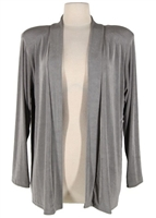 Long sleeve jacket - grey - acetate/spandex
