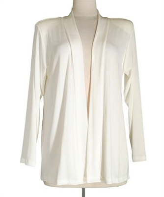 Long sleeve  jacket - ivory- acetate/spandex