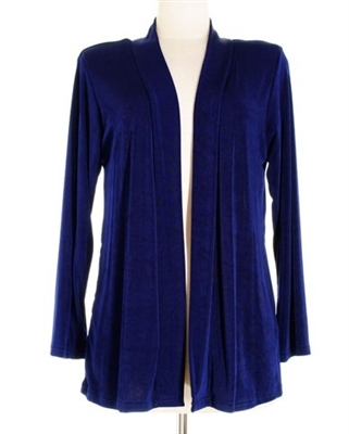 Long sleeve  jacket - navy  - acetate/spandex