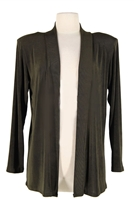 Long sleeve  jacket - olive  - acetate/spandex
