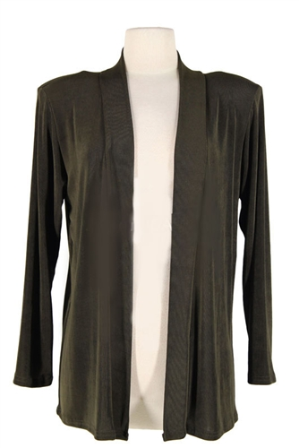 Long Sleeve Jacket Olive Acetate Spandex