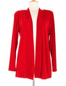 Long sleeve jacket - cranberry - acetate/spandex