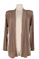 Long sleeve  jacket - taupe  - acetate/spandex