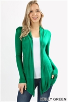 long sleeve lightweight cardigan - kelly green - rayon