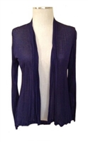 long sleeve lightweight cardigan - navy - rayon