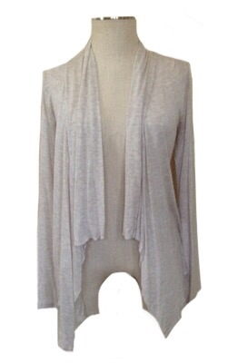 long sleeve lightweight cardigan - oatmeal - rayon