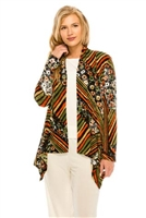 Mid-cut long sleeve jacket - olive/rust - polyester/spandex