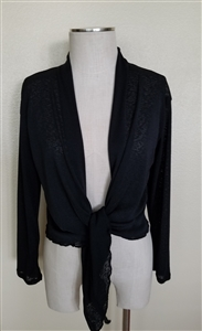 long sleeve shrug- black - polyester/spandex