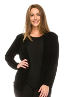 Long sleeve jacket - black - polyester/spandex