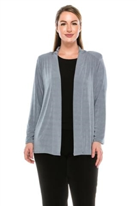 Long sleeve jacket - grey - polyester/spandex