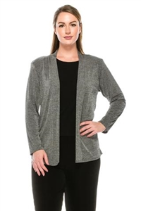 Long sleeve jacket -heather grey - polyester/spandex