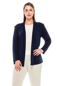 Long sleeve jacket -navy - polyester/spandex
