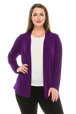 Long sleeve jacket - purple - polyester/spandex