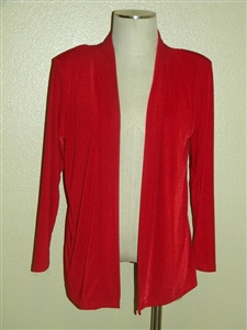 Long sleeve jacket - red - polyester/spandex