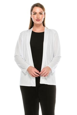 Long sleeve jacket - white - polyester/spandex